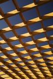 Bodenbelag eines hölzernen Dachs Stockfoto