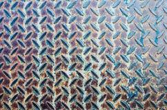 Bodenbeschaffenheit und -hintergrund der Nahaufnahme alte Metall Stockbild