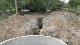 Bodenbewegung, Wasserversorgung lizenzfreies stockbild