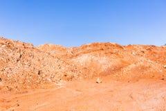 Bodenbewegungs-Sand-Hügel Stockbild