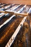 Bodenkonstruieren und -isolierung Stockfotos