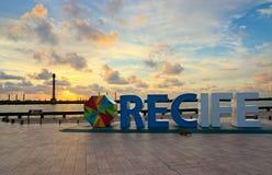 Bodennullpunkt von Recife, Pernambuco, Brasilien Stockfoto