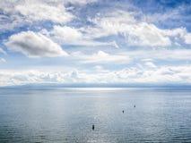 有云彩的湖Bodensee 免版税库存照片