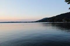 Bodensee in Bregenz, Österreich Stockbilder