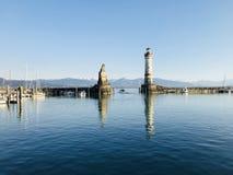Bodensee em Lindau, Alemanha imagens de stock royalty free