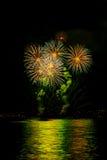 BODENSEE FIREWORK. Fantastic firework in konstanz GERMENY Stock Image