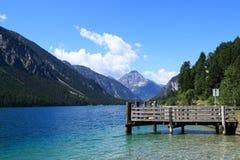 Bodensee jest 63 km długimi i graniczy na trzy krajach Fotografia Royalty Free