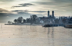 Bodensee (Lake Constance). With Schlosskirche (church) of Friedrichshafen, Germany Stock Photo