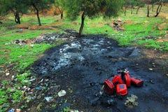 Bodenverunreinigung Stockfotos