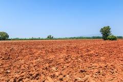 Bodenvorbereitung für die Landwirtschaft Stockbilder