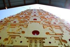 Bodh Gaya. Front view of Thai golden Bodh Gaya in Sangkhlaburi, Thailand Royalty Free Stock Photo