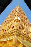 Bodh Gaya. Thai golden Bodh Gaya with roof  in Sangkhlaburi, Thailand Stock Photography
