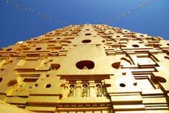 Bodh Gaya. Intensive tone, Front view of Thai golden Bodh Gaya in Sangkhlaburi, Thailand Stock Photo
