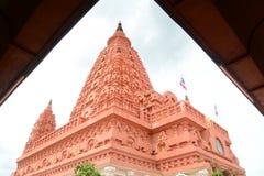 Bodh Gaya. Intensive tone, view of Thai red Bodh Gaya in Nakhonsawan, Thailand Stock Photo