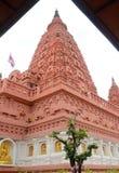 Bodh Gaya. Intensive tone, view of Thai red Bodh Gaya in Nakhonsawan, Thailand Royalty Free Stock Photos