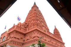Bodh Gaya. Intensive tone, view of Thai red Bodh Gaya in Nakhonsawan, Thailand Stock Photos