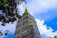 Bodh Gaya, Mahabodhi-Tempel Stock Afbeeldingen