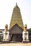 Bodh Gaya Mahabodhi Temple Royaltyfri Fotografi