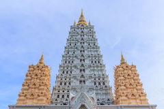 Bodh Gaya Pagoda, Chonburi Thailand Stock Afbeelding