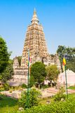 Mahabodhi Temple, Bodhgaya. Bodh Gaya is a religious site and place of pilgrimage associated with the Mahabodhi Temple in Gaya, India Royalty Free Stock Photos