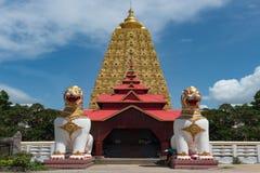 Bodh Gaya. Stupa/Mahabodhi Temple, Sangkhlaburi, Kanchanaburi, Thailand Stock Photo