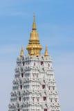 Bodh gaya in thailand. Scenery of bodh gaya white pagoda in Pattaya Thailand Stock Photos