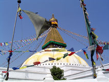 bodhanathkathmandu nepal stupa Royaltyfri Fotografi