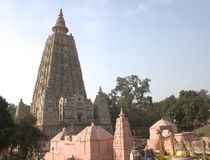 bodhgaya budha kompleksu świątynia zdjęcia royalty free
