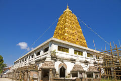 Bodhgaya golden and blue Royalty Free Stock Image