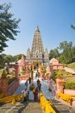 bodhgaya mahabodhi寺庙 免版税图库摄影