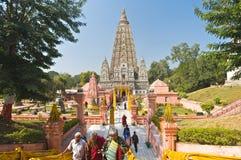 bodhgaya mahabodhi寺庙 免版税库存照片