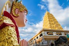 Bodhgaya Stupa or Phuthakaya Pagoda at Sangklaburi, Kanchanaburi Stock Image