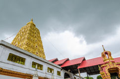 Bodhgaya-style stupa at Wangvivagegaram Temple, Sangkhla Buri Stock Photos