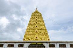 Bodhgaya-style stupa at Wangvivagegaram Temple, Sangkhla Buri Stock Images