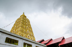 Bodhgaya-style stupa at Wangvivagegaram Temple, Sangkhla Buri Royalty Free Stock Photography
