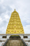 Bodhgaya-style stupa at Wangvivagegaram Temple, Sangkhla Buri Stock Photo