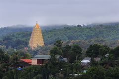 Bodhgaya-style stupa at Wangvivagegaram Temple Royalty Free Stock Photography