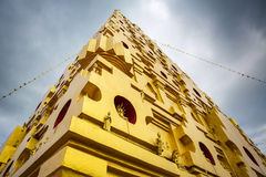 Bodhgaya-style stupa at Wangvivagegaram Temple Stock Photography