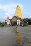 Bodhgaya-style stupa at Wat wangvivagegaram in Sangklaburi Stock Image