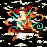 Bodhisattva στο βουδισμό διανυσματική απεικόνιση