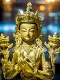 Bodhisattva Avalokiteshvara Quan Yin or Kuan Yin Statue in Shanghai Pudong International Airport, China stock photo
