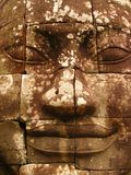 Bodhisattva Avilokiteshvara or Buddha face detail - Cambodia Royalty Free Stock Images