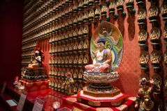 The Bodhisattva in Buddha Tooth Relic Temple stock photography