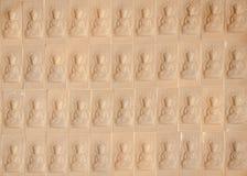 Bodhisattva d'image sur le mur Image libre de droits