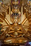 Bodhisattva golden Buddha Statue with 1000 arms stock image