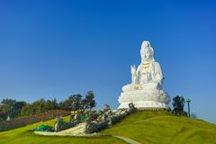 Bodhisattva Guan Yin statue in Wat Huay pla kang temple. In Chiang rai province, Thailand Royalty Free Stock Images