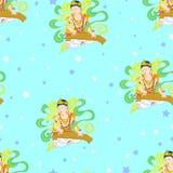 Bodhisattva im Buddhismus Stock Abbildung