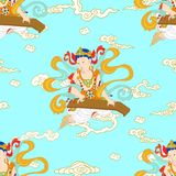 Bodhisattva no buddhism ilustração do vetor