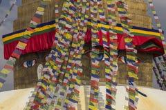 bodhnath加德满都stupa 免版税库存照片