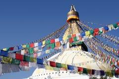 bodhnath尼泊尔stupa 库存照片